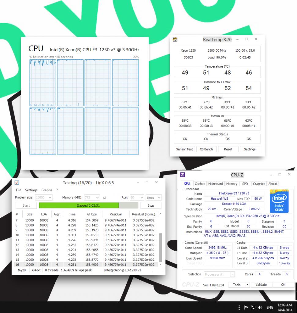 0.892V (CPUZ) 0.847V (BIOS)