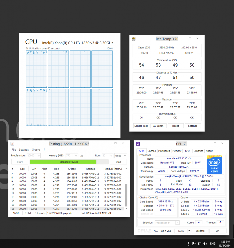 0.975V (CPUZ) 0.940V (BIOS)