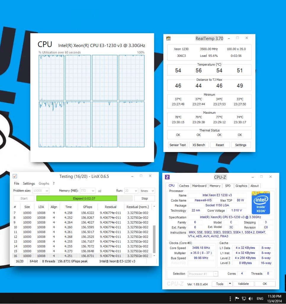1.010V (CPUZ) 0.975V (BIOS)