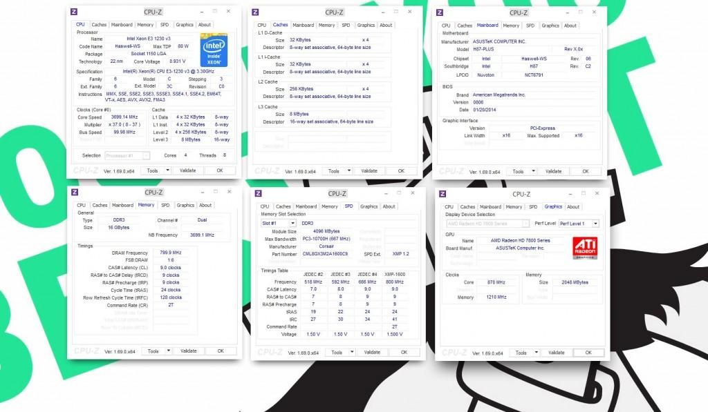 CPUZ Screenshot